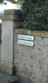 Lullington House B&B Sign on entrance