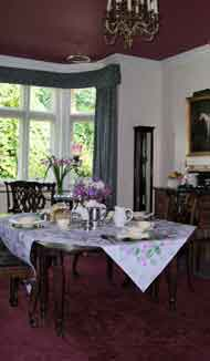 Breakfast Room of Lullington House Bed and Breakfast in Frome